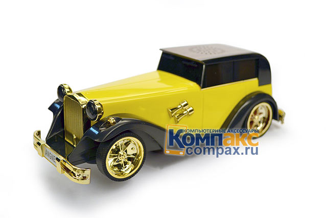 Колонки MP3 player Mini Music car ретро авто AN-M8 желтый